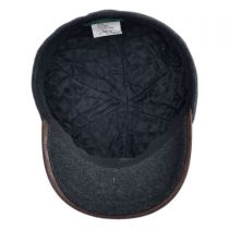 Bigalli - Plaid Leather Baseball Cap