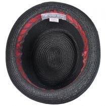 Pork Pie-Stripe Band Hat