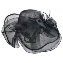 Magnolia Sinamay Straw Swinger Hat in
