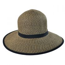 Toyo Straw Braid Facesaver Hat - Coffee alternate view 2