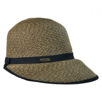 Toyo Straw Braid Facesaver Hat - Coffee alternate view 3