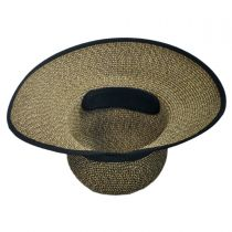 Toyo Straw Braid Facesaver Hat - Coffee alternate view 4