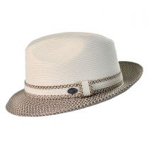 Mannesroe Polybraid Straw Fedora Hat in