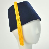 Navy Blue Fez with Gold Tassel alternate view 2