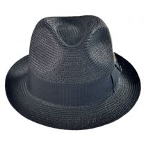 Toyo Straw Braid Trilby Fedora Hat