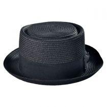 Toyo Straw Braid Pork Pie Hat in
