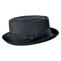 Toyo Straw Braid Pork Pie Hat alternate view 3