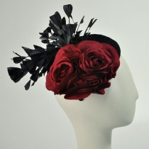 Lace and Rose Pillbox Headband
