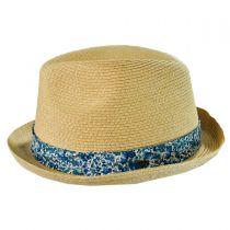 Thea Toyo Straw Trilby Fedora Hat