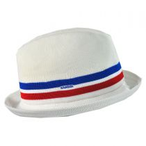 Stripe Player Fabric Fedora Hat