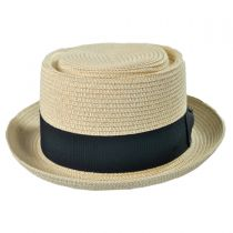 Toyo Straw Braid Pork Pie Hat