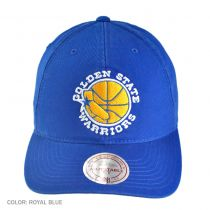 Mitchell & Ness - Golden State Warriors Vintage Slouch Leather Strapback Baseball Cap