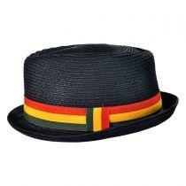 Rasta Toyo Straw Diamond Crown Fedora Hat in