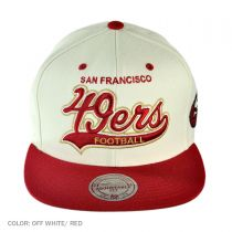 Mitchell & Ness - San Francisco 49ers NFL Throwback Script Tailsweeper Snapback Baseball Cap