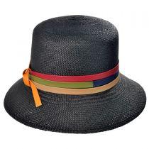 Panama Straw Cloche Hat