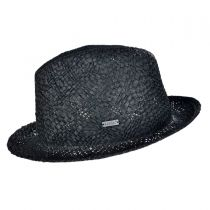 Tribal Toyo Straw Player Fedora Hat in