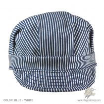 Striped Cotton Engineer Cap alternate view 5