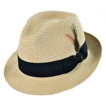 B2B Jaxon Toyo Straw Braid Trilby Fedora Hat alternate view 2
