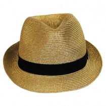 Metallic Straw Trilby Fedora Hat in