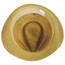 Metallic Polybraid Straw Fedora Hat