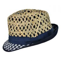 Kid's Picnic Cotton and Straw Fedora Hat in