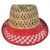 Kid's Picnic Cotton and Straw Fedora Hat