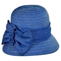 Crushable Three Bow Cloche Hat
