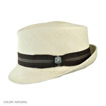 Panama Diamond Crown Stingy Brim Fedora Hat