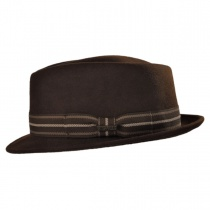 Diamond Crown Stingy Brim Fedora Hat