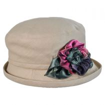 Silk Pansy Cloche