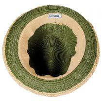 Raffia Band Fedora Hat