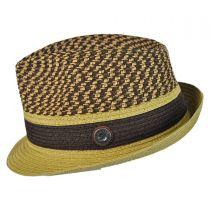 Braid Straw Trilby Hat