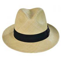 Panama Straw Snap Brim Fedora Hat