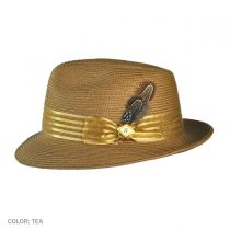 Satin Striped Hat Band Fedora Hat