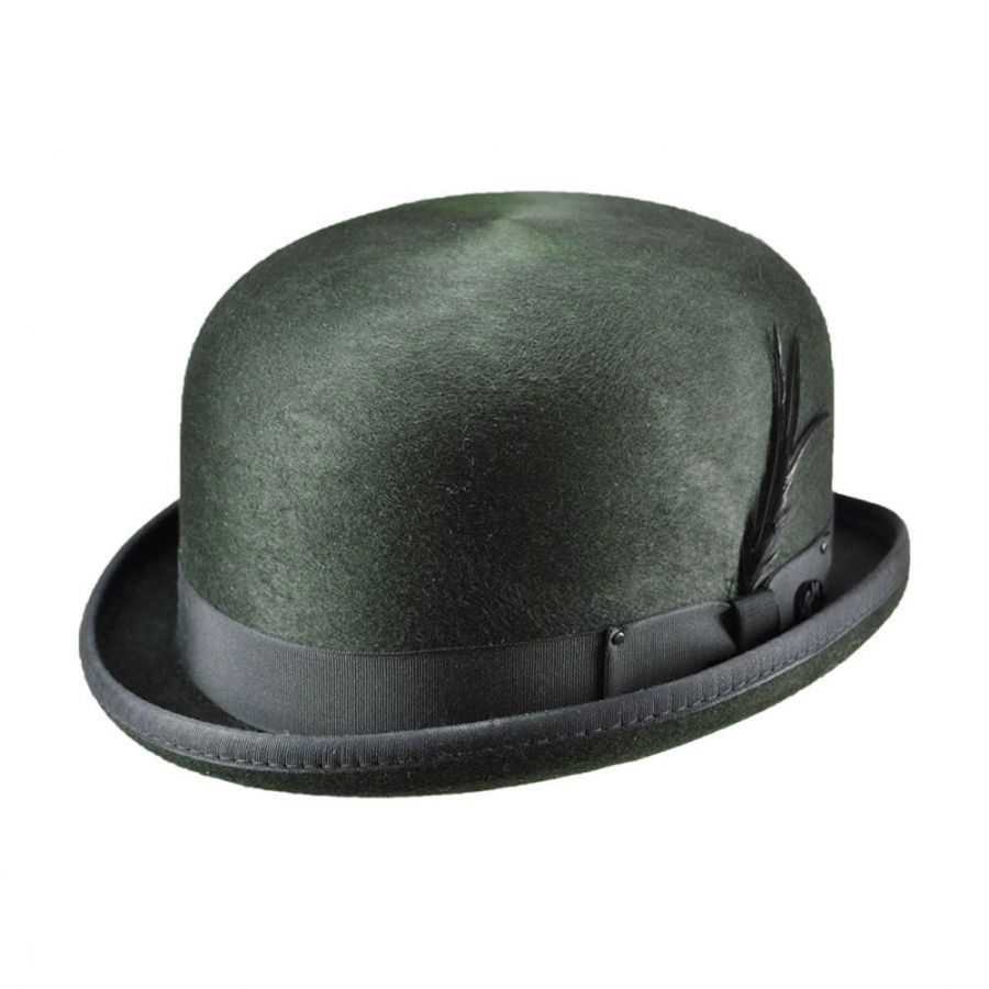 Victorian Men's Hats- Top Hats, Bowler, Gambler Buy new Victorian Men's hats such as the formal top hat, casual Bowler or derby hat, and gambler hat for wild west reenactors. These hats range in quality and price from reproduction fur felt hats to cheap costume quality fabric felt hats.