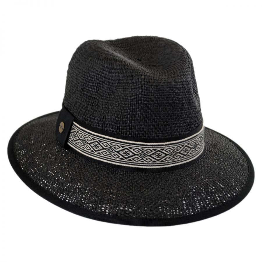 jacquard band toyo straw fedora hat casual hats