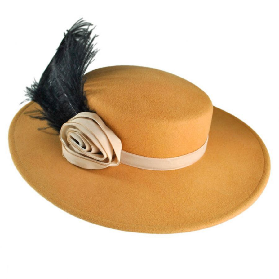 Elegant Abby Wool Felt Ladies Dress Hat