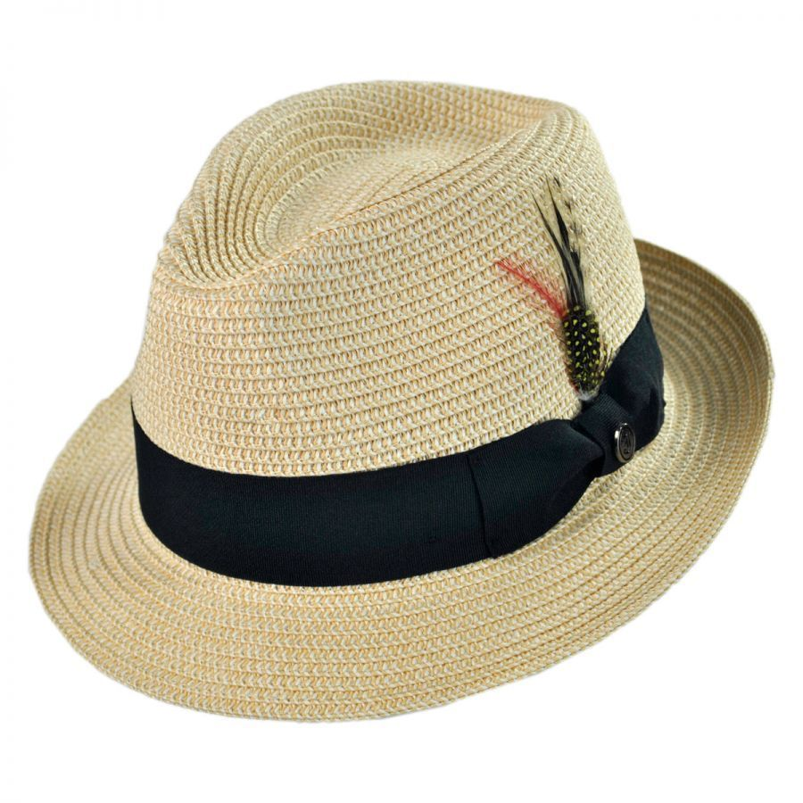 Jaxon Hats Toyo Straw Braid Trilby Fedora Hat Straw Hats 54eb3b5b9a7