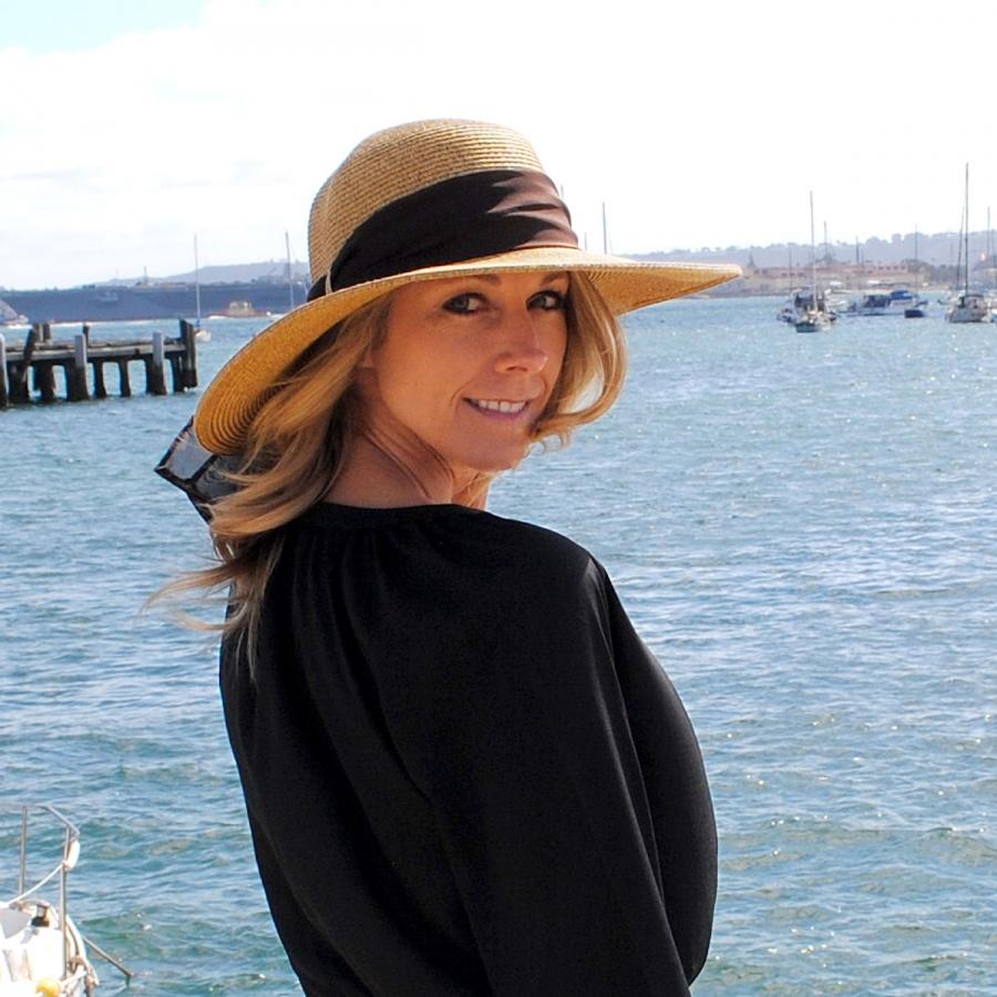 sur la tete Beach Side Toyo Straw Sun Hat Women ea292a0de