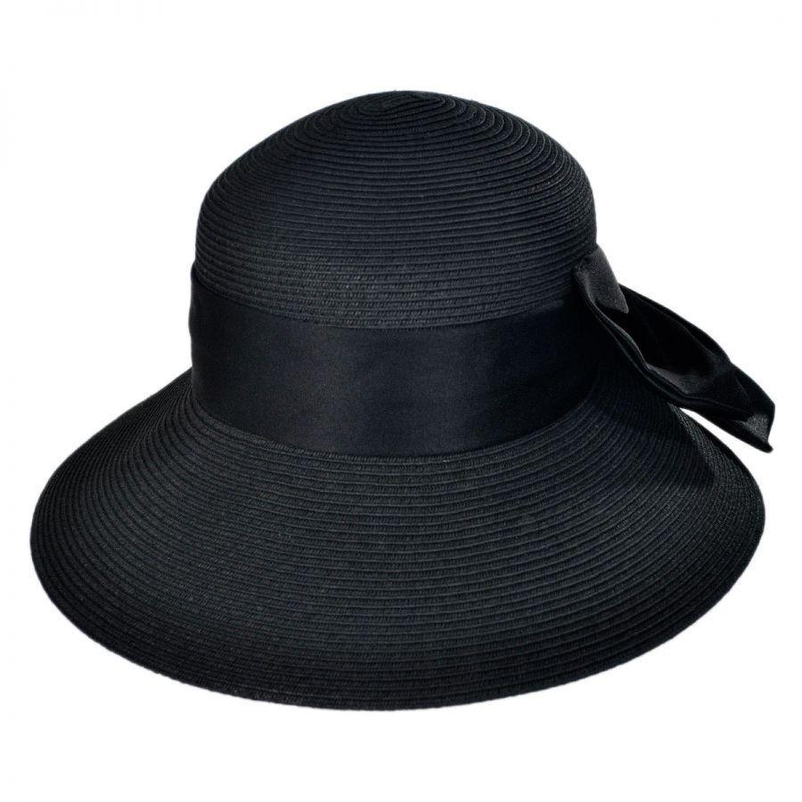 Karen Keith Big Bow Toyo Straw Lampshade Hat Dress Hats 3eaa1d7ea2e0