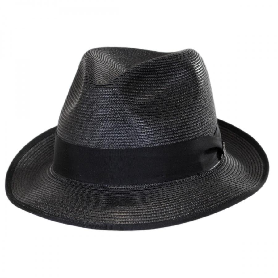 Stetson Latte Florentine Milan Straw Fedora Hat All Fedoras 5e6a2c0e54c