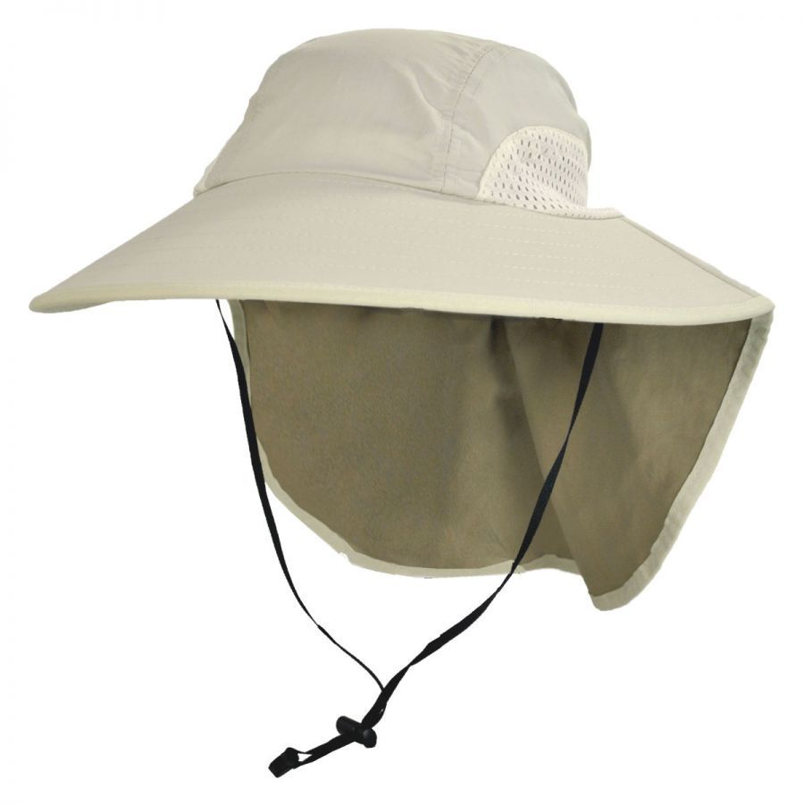 Torrey Hats UPF 50+ Large Bill Hat with Neck Flap Sun Protection 9cc62db6301