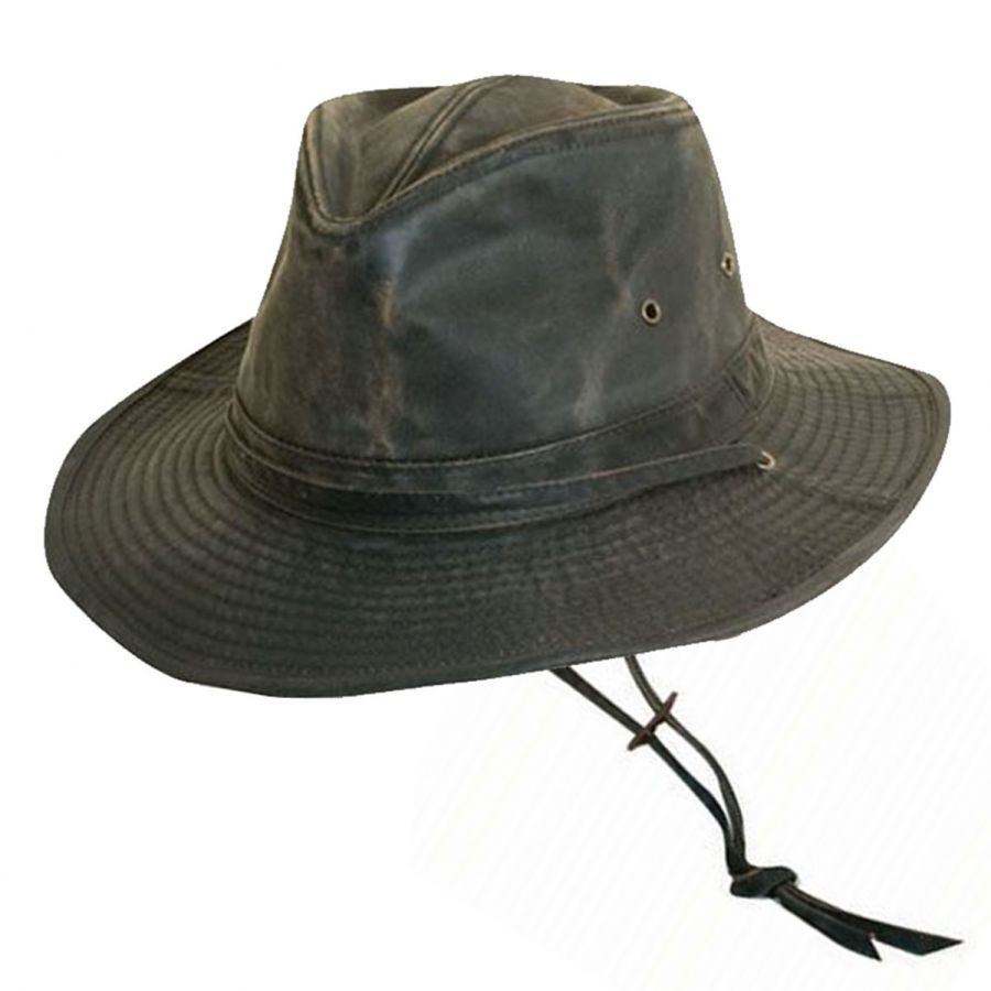 Dorfman Pacific Company Weathered Cotton Outback Hat Sun Protection e3950d253f9