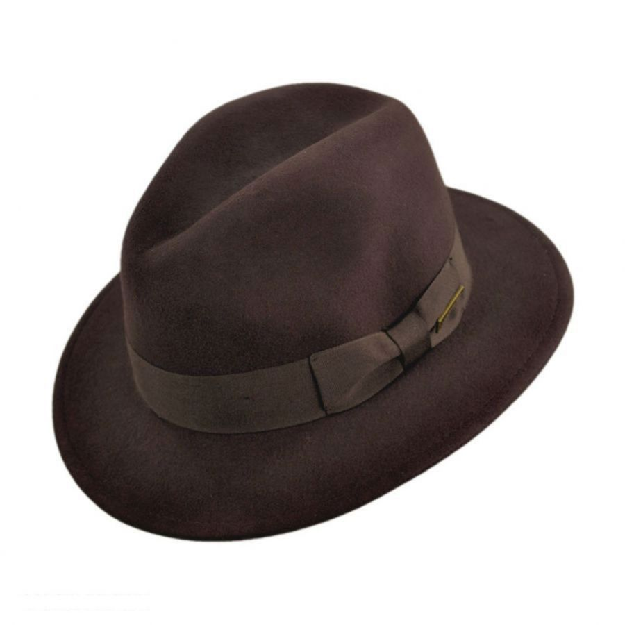 Indiana Jones Officially Licensed Crushable Wool Felt Fedora Hat ... 9277fcc58141