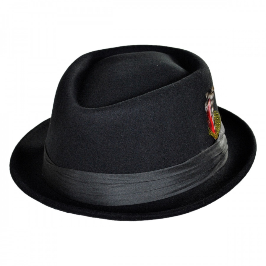 Brixton Hats Stout Wool Felt Diamond Crown Fedora Hat Stingy Brim ... 8a3f721ae17