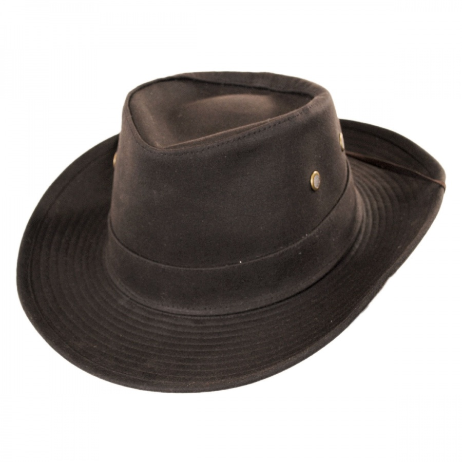 Hills Hats of New Zealand The McKenzie Waxed Cotton Outback Hat Rain ... dbd27d490ed