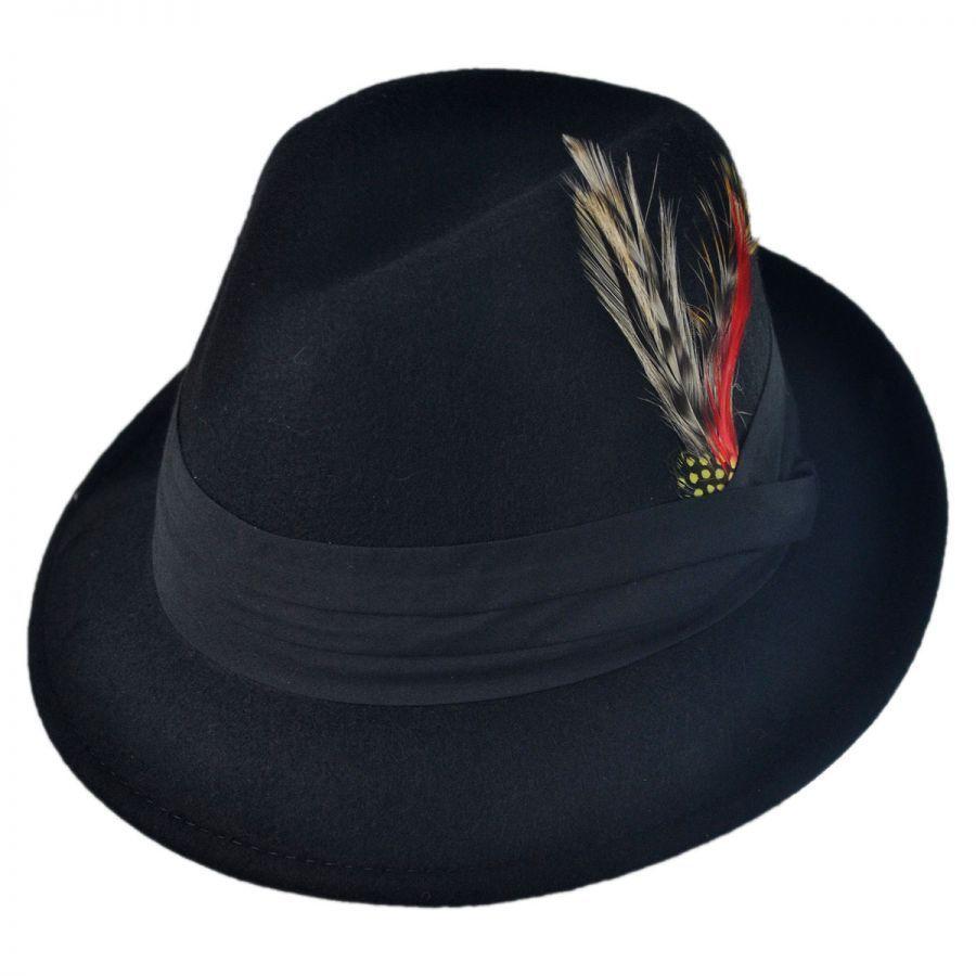 Capas Headwear Kid s Blues Crushable Wool Felt Trilby Fedora Hat Boys 98ffc6469a35