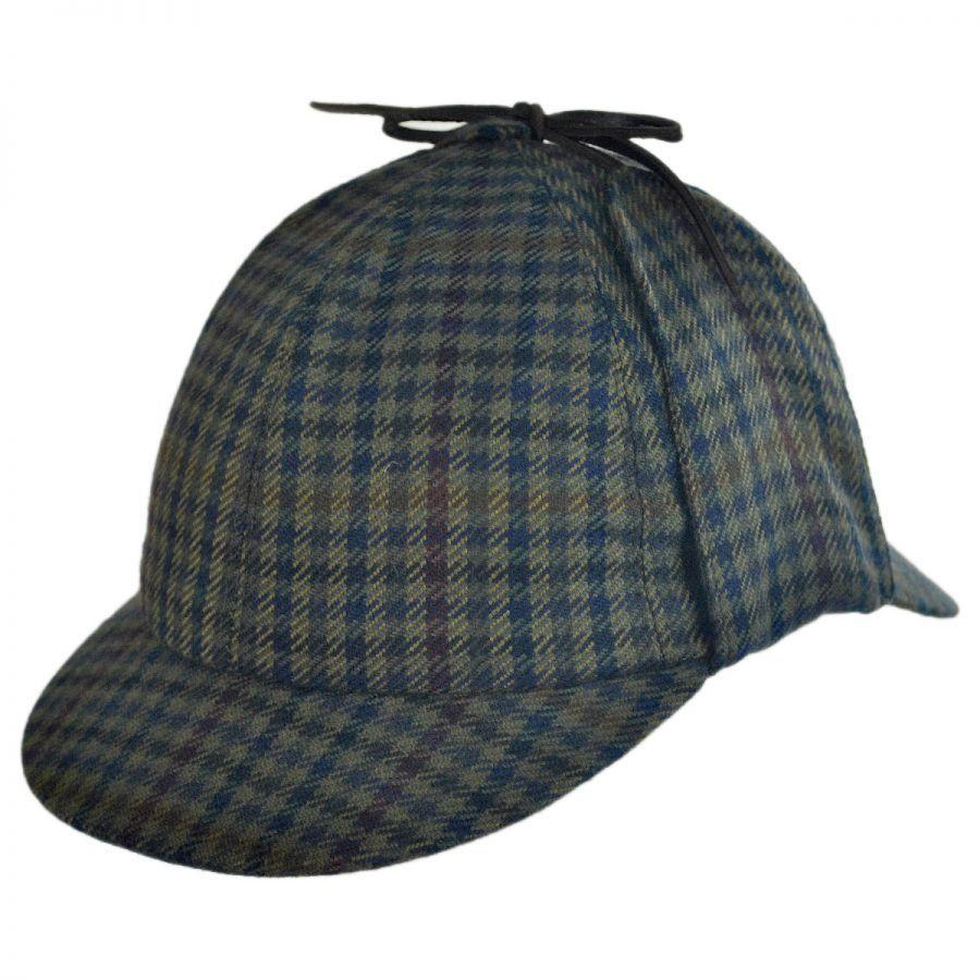 City Sport Caps Checkered Wool and Cashmere Sherlock ...