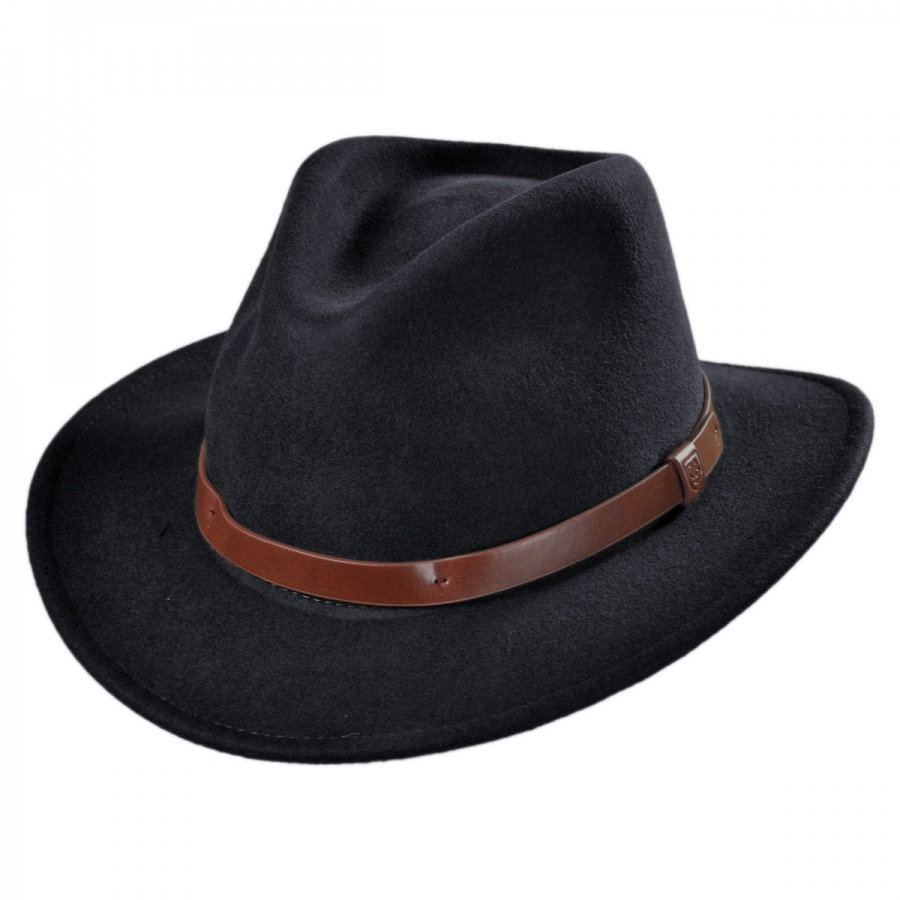 Brixton Hats Messer Wool Felt Fedora Hat All Fedoras 1d6ebbfa97f4