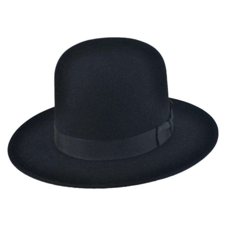 Stetson Amish Buffalo Fur Felt Open Crown Fedora Hat Fur Felt a97e6dcda4c